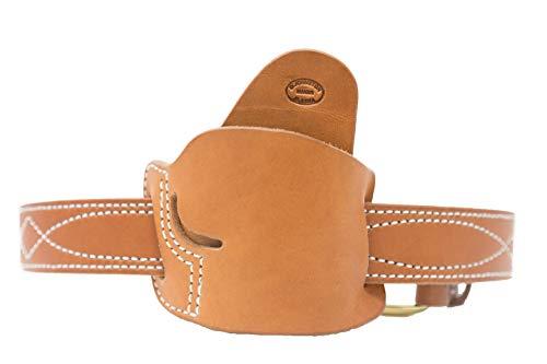 Diamond D The Alaska EDC Leather Belt Slide Holster, Brown