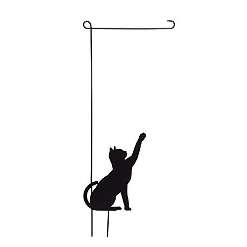 Evergreen Flag Adorable Garden Flag Stand with Cute Cat Design - Perfect for Pet Lovers 17 x 44 Inches