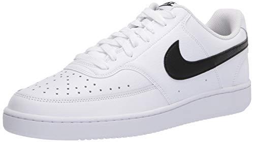 Nike Court Vision Lo, Zapatilla de Baloncesto Hombre, White/Black/White, 42 EU