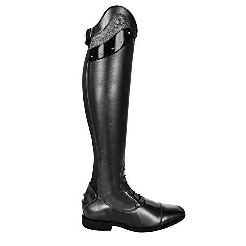 Cavallo Reitstiefel Linus Slim Edition Lack Strass Bling | Farbe: schwarz | Größe: 4-4½ | Schaftform: 48/37