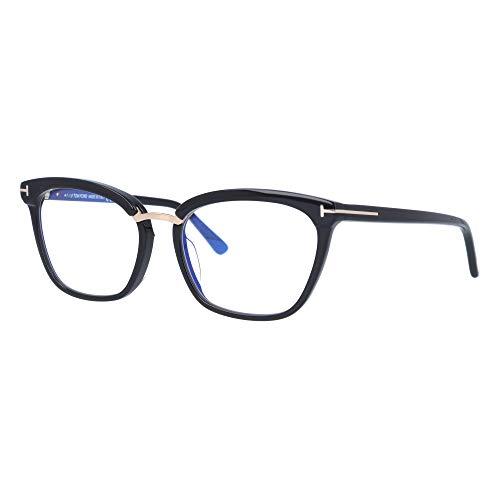 Eyeglasses Tom Ford FT 5550 -F-B Asian fit 001 Shiny Black, Rose Gold Details/B