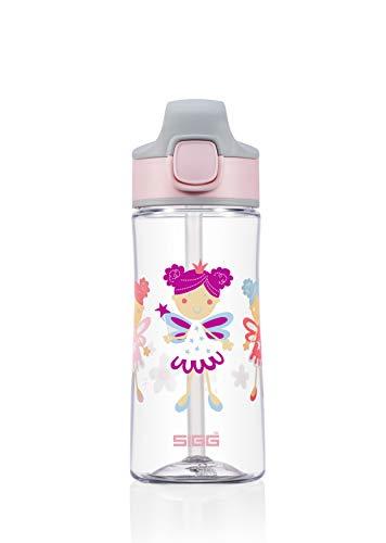 SIGG Miracle Fairy Friend Borraccia bambini (0.45 L), Bottiglia per bambini bambini con coperchio ermetico, Borraccia salvagoccia trasportabile con una mano in tritan
