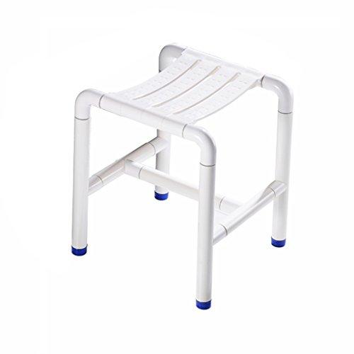 PanYFDD Taburetes de ducha de acero inoxidable para personas mayores/discapacitados antideslizante silla de ducha Nylon Shell Heavy Duty Max. 300kg