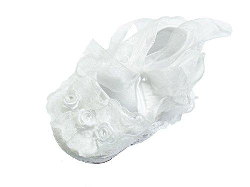 Cinda Bébé Fille Dentelle Chaussures de baptême