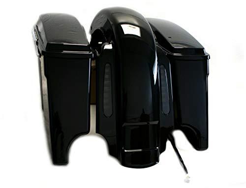 """Mutazu CVO 4"""" Extended Rear Fender+6x9 Speaker Lids Saddlebags for 93-08 Harley"""