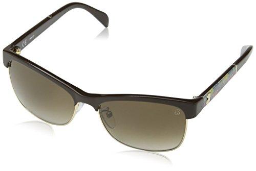 TOUS STO907-570D84 Gafas de sol, Shiny Full Brown, 57 para Mujer