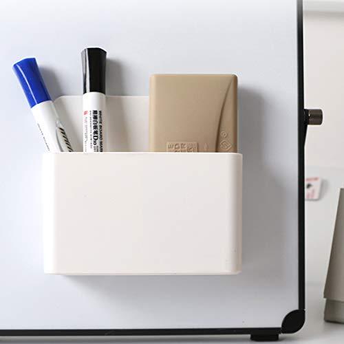 1 Pack Magnetic Dry Erase Marker Holder, Whiteboard Marker Holder, Mighty-magnetic Marker Pen Organizer for Whiteboards (White) Photo #3