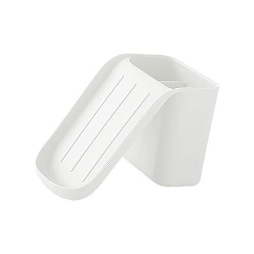 Qingxin Caja de jabón con ventosa reutilizable para pared y baño