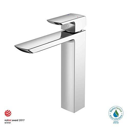 TOTO TLG02307U#CP Single Handle Vessel Bathroom Sink Faucet, Polished Chrome