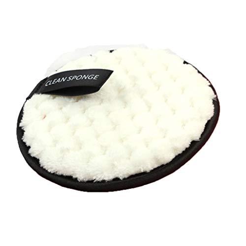 Makeup Pads Coton Démaquillant Microfibre Tampons Démaquillants Biologique Lavable Bouffée de Nettoyage du Visage Tampons By Mignon CH (Blanc-1 PC)