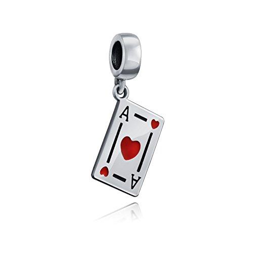 Buena suerte Ace de Corazones Poker Jugador Tarjetas Casino Viaje Dangle Encanto...