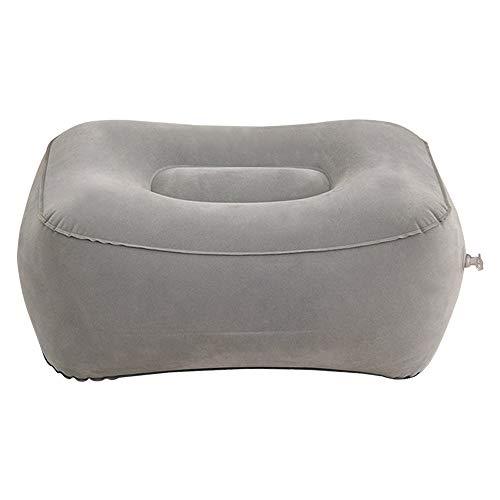 MZY1188 Aufblasbare Fußstütze, tragbare Fußstützenauflage für die Reise PVC Foot Relax Cushion Entspannender Fußhocker für die Reise Office & Home Relax Kissen Kissen