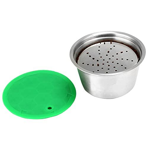Jroyseter Filtro de cápsula de café Reutilizable, cápsula de café Recargable de Acero Inoxidable para café fragante (cápsula de café)