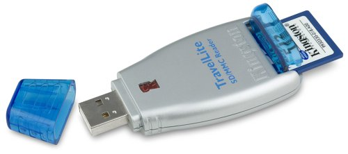Preisvergleich Produktbild Kingston TravelLite SD / MMC Reader + SD 512 MB Speicherkartenleser / Schreiber USB2.0 für SD / miniSD, MMC / Plus / RS / Mobile