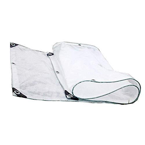 ZEMIN Bâche Protection Couverture Imperméable Transparent Tente Captivité Stable des Trous PE, Clair, 200G / M², Plusieurs Tailles (Color : Transparent, Size : 4.9x5.9m)