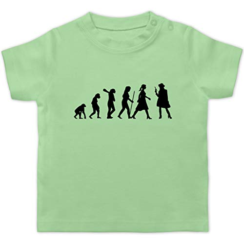 Evolution Baby - Cowgirl Evolution Kleid - 1/3 Monate - Mintgrün - Wilder Westen - BZ02 - Baby T-Shirt Kurzarm