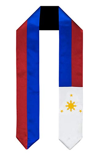 Philippines Flag Graduation Sash/Stole International Study Abroad Adult Unisex