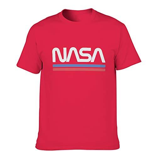 Ouniaodao Men's NASA Cotton T-Shirt - Summer Casual Wear red1 6XL