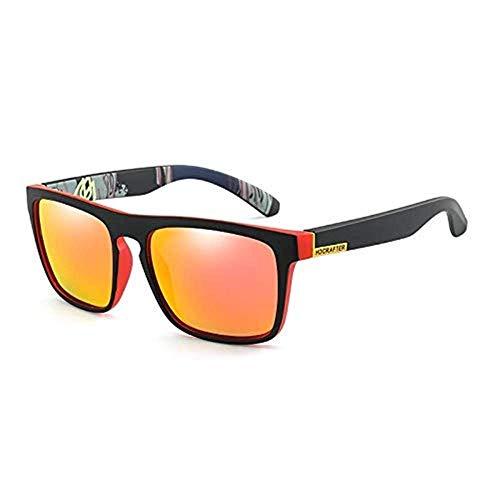 LAMZH Gafas de Sol Polarizadas de Gafas de Sol Gafas de Sol Polarizadas Coloridas Caballas Equitación Vidrios Femenino Espacio Colorido Thumbtacks Casual Classic Mirror Gafas de Sol Accesorios