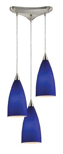 Elk 2581/3 Vesta 3-Light Pendant In Royal Blue In Satin Nickel
