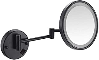Makeup Vanity Mirror with Lights, Single Side Wall Mounted Beauty Mirror Extendable Bathroom Mirror 360° Swivel Cosmetic Mirror 8inch,Gold_10x,Bathroom
