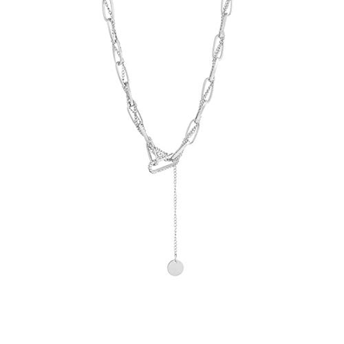 Shangwang - Collar para mujer, diseño geométrico