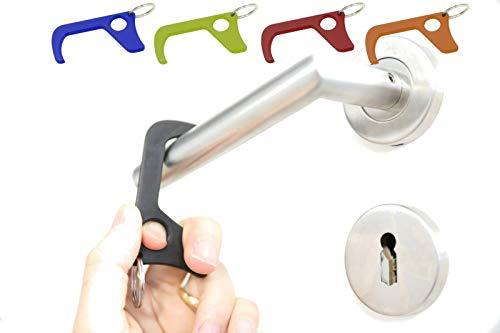 Schwarz Türöffner Haken aus PLA Schlüsselanhänger mit Schlüsselring