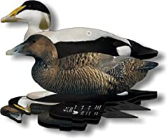 FLAWLESS DESIGN: Our foldable duck decoys are constructed from premium quality material, shields the decoy from every wear and tear! Our lifelike duck eider decoy comes with realistic detail and custom design using special UV decoy painting, which mi...