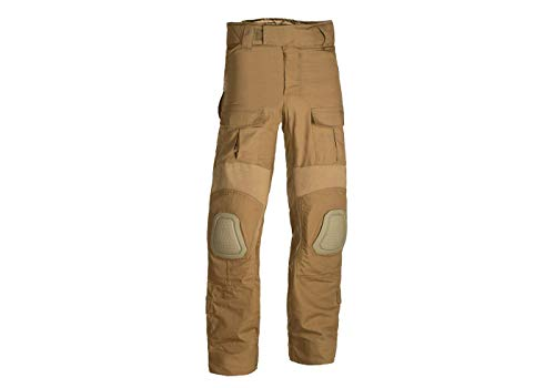 Invader Gear Predator Combat Pants Kampfhose Airsoft Army Paintball Outdoor Rippstop Hosen (M, Coyote)