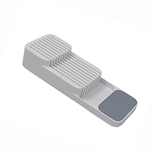 TEEAYMM Soporte de bloque de plástico Cajón Tenedores Cucharas Estante de almacenamiento Soporte Bandeja de gabinete Organizador de cocina de cocina