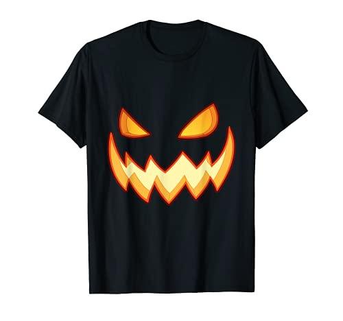 Disfraz de Halloween Calabaza Cara Camiseta Hombres Mujeres Camiseta