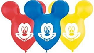 """25 MICKEY MOUSE EARS 15"""" Disney Party Latex Balloons"""