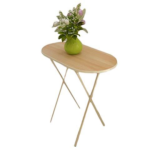 O&YQ Gateleg Tisch/Klapptisch Klapptisch Haushalt Kleine Wohnung Tragbarer Tisch Student Desk Computertisch Outdoor Stall Tisch, Oval