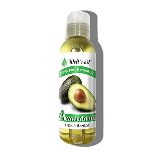 Well's 100% Pure Avocado Oil 4oz Promotes Hair Growth / Prevents Hair Loss / Antioxidant