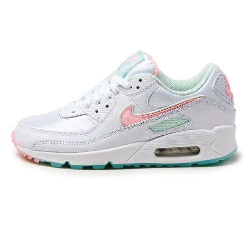 Nike Wmns Air Max 90, Scarpe da Ginnastica Donna, White/Barely Green/Light Dew/Arctic Punch, 36 EU