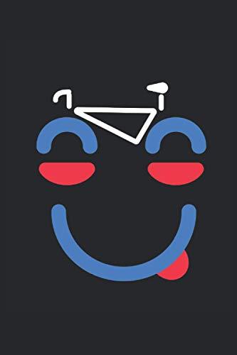 Lustiges Fahrrad Gesicht Radfahrer Spruch: Notizbuch und Tagebuch mit 120 punktierten Seiten dotgrid (gepunktetes Notizbuch)