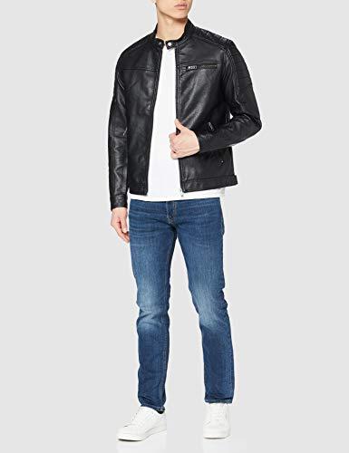 Jack & Jones Jcorocky Jacket Noos Chaqueta, Negro (Black Pattern: PU), Large para Hombre