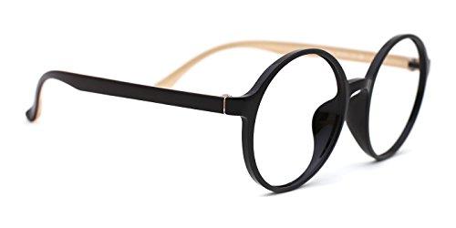 TIJN Womens Designer Tinted Round Eyeglasses Glamour Frame