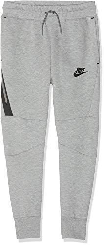 Nike Tech Fleece Pant, Pantaloni Bambino, Grigio (Dark Grey Heather/Black/Black 064), Small
