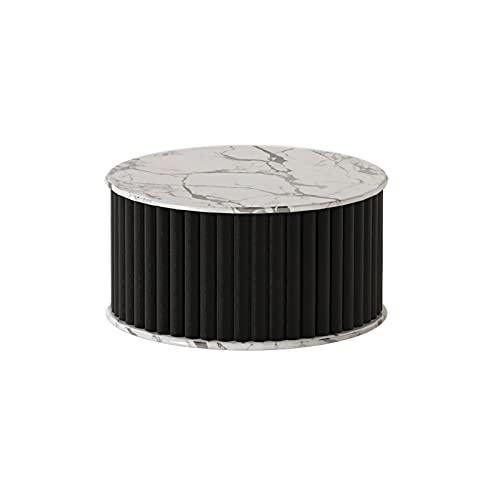 DAGCOT Soporte de exhibición de Pedestal Corta, Mesa de Cilindro de exhibición Colorida para Fiestas, Estante de Almacenamiento para Tienda, hogar, Oficina, 14 x 8 Pulgadas (Color : Black)