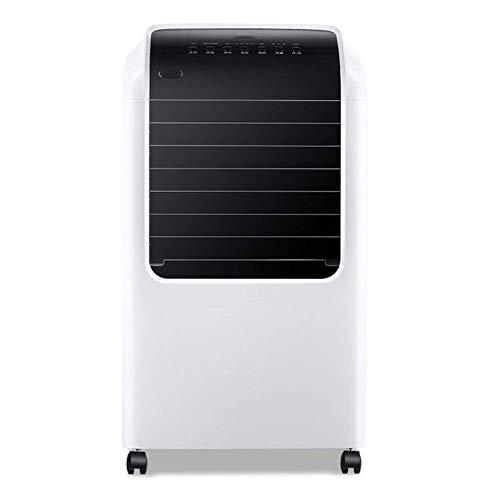 Ventilador de Aire Acondicionado silencioso sin Cuchillas de un Solo frío, enfriadores evaporativos con Control Remoto 4 Ruedas giratorias Enfriador de Aire Temporización Ahorro de energía Air-White