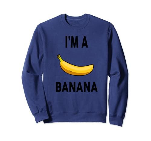 Disfraz de plátano para Halloween con diseño de plátano Sudadera