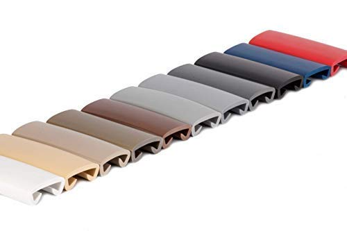 1m Handlauf PVC Kunststoff Treppenhandlauf 40x8 mm viele Farben (weiß)