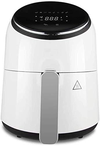 LY88 Keukenluchtfriteuse, digitale airfryer, 3,5 l, 1300 Watt, LED-display met sensor-touch-bediening, wasbare braadmand en pan-white