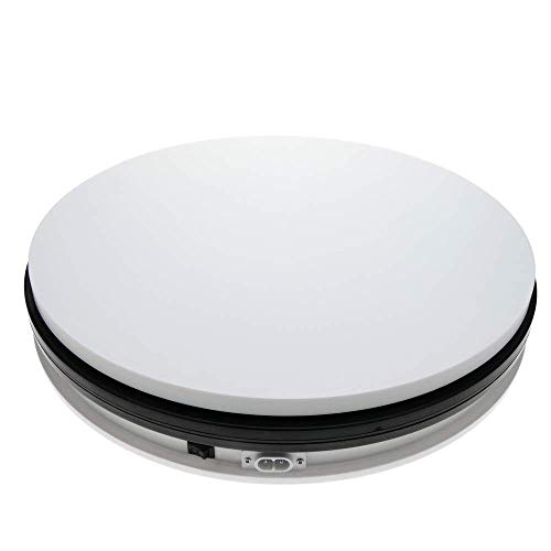 PrimeMatik - Base giratoria eléctrica de 35 cm. Plataforma Rotatoria de Color Blanco