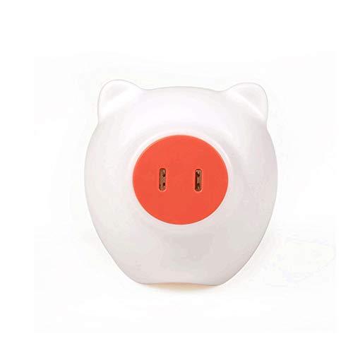 Veilleuse multifonction avec prise Meng cochon maison intelligente LED créative (Color : A)