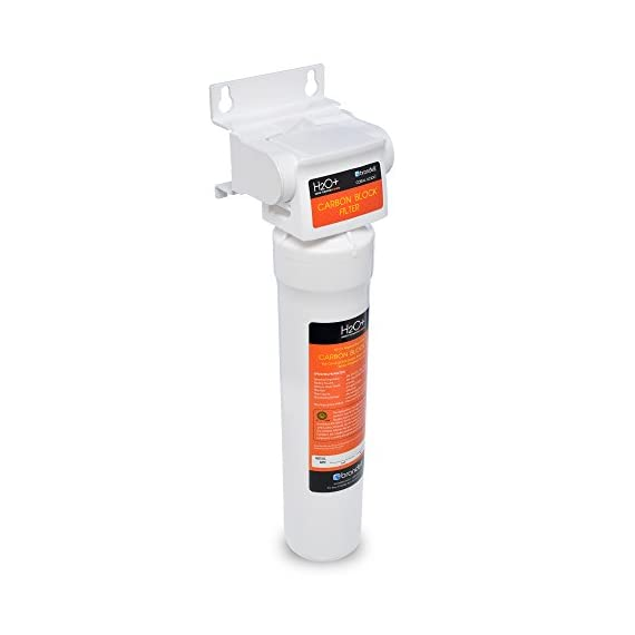 Brondell UC100 H2O+ Coral Single-Stage Under counter Water Filtration System with Over 99% Lead Reduction, 1, Chrome 3 Powerful certified carbon block filtration performance certified for more than 99% lead reduction Designer chrome faucet with integrated LED filter change indicator (included) Twist & Seal filter makes replacement a breeze