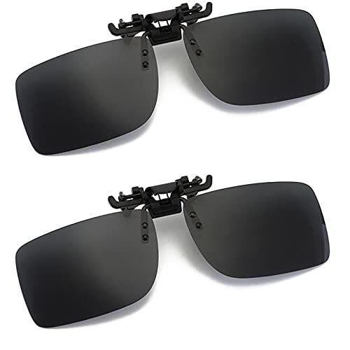 Clip para gafas de sol polarizadas fotocromáticas Gafas de conducción antideslumbrantes UV400 para hombres, mujeres, aclarando la visión. Ideal para conducir viajes de pesca deportiva (gris+gris)