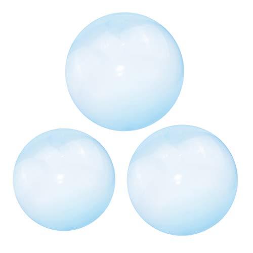 #N/A/a Paquete de 3 Globos de Bola de Burbujas Firmes para Familias, Divertido Juguete de Fiesta en La Playa Al Aire Libre, Azul