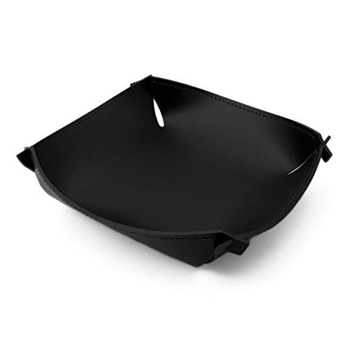 NotteBrava Vide-Poche en Cuir recyclé Noir, Fait à Main, Made in Italy – Pascal-q